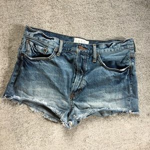 We the Free People Hugh Rise Button Fly Shorts